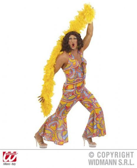 Ladies 70s Funky Chick Costume Groovy 70s Disco Hippy Fancy Dress Cosplay Outfit